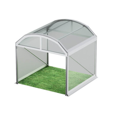 3m Wide Curved Clear Roof Pavilion 3m x 3m