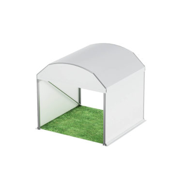 3m Wide Curved Roof Pavilion 3m x 3m