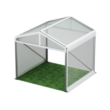3m Wide Clear Roof Pavilion  3m x 3m