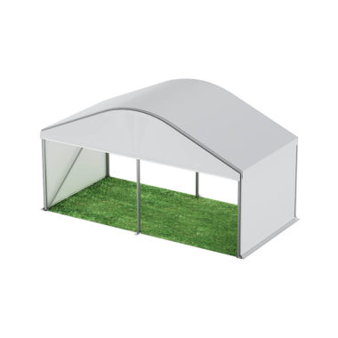 6m Wide Curved Roof Pavilion 6m x 3m