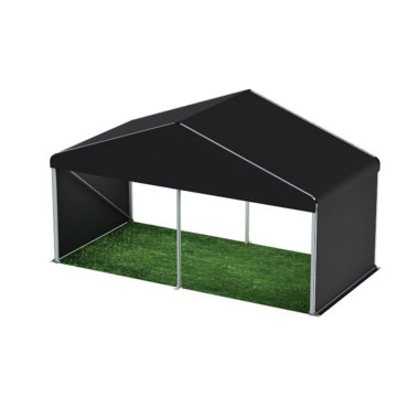 6m Wide Black Pavilion 6m x 3m