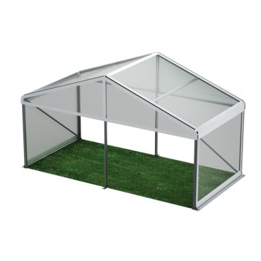 6m Wide Clear Roof Pavilion 6m x 3m