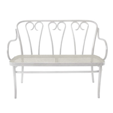 Bentwood Bench White