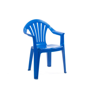 Children's Chair With Arms Blue