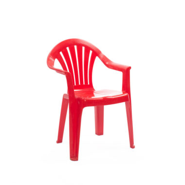 Children's Chair With Arms Red