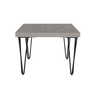 Hairpin Coffee Table Square Concrete Top Black