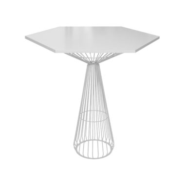 Hex Bar Table White