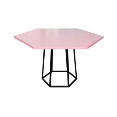 Hex Cafe Table Cotton Candy/ Black