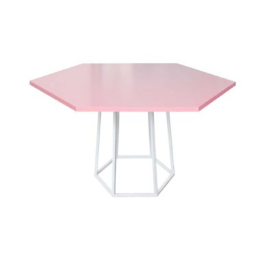 Hex Cafe Table Cotton Candy/ White
