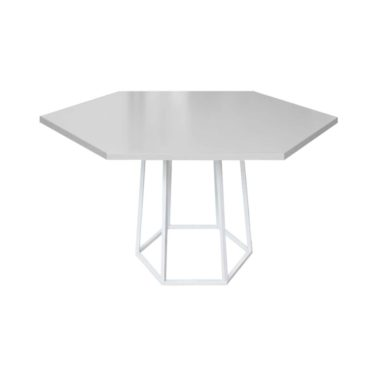 Hex Cafe Table Grey/ White