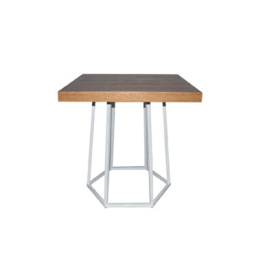 Hex Cafe Table Natural/ White