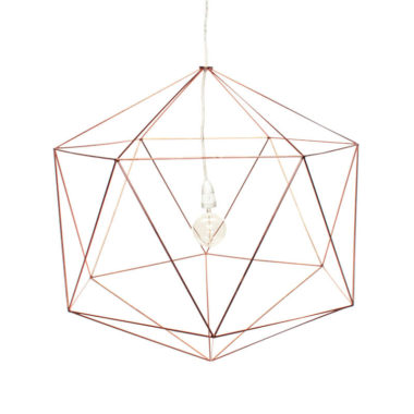 Hex Light Fitting Large Copper