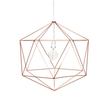 Hex Light Fitting Small Copper