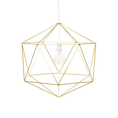 Hex Light Fitting Small Gold