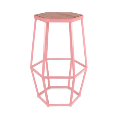 Hex Stool Cotton Candy