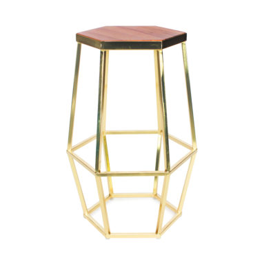 Hex Stool Gold