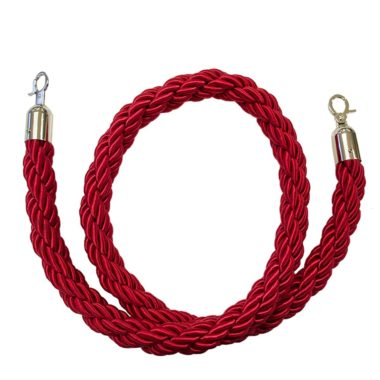 Bollard Silky Rope Red - Chrome Ends