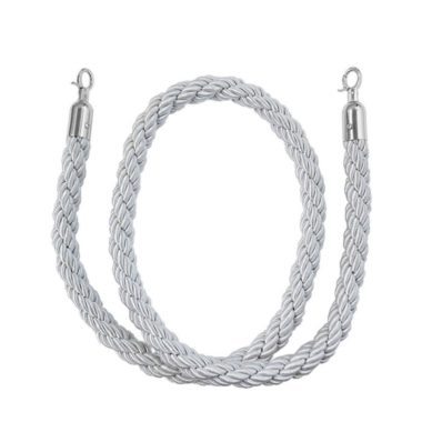 Bollard Silky Rope White - Gold Ends